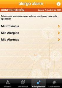 alergia polen app