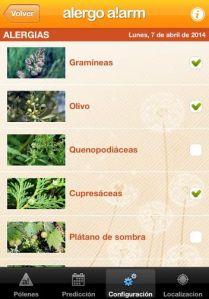 alergia polen app alergo alarm